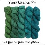 frabjous fibers Veiled Waterfall Kit