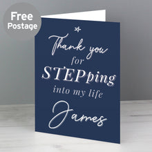 Load image into Gallery viewer, Personalised Stepdad Card
