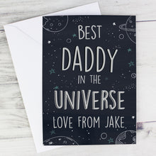 Load image into Gallery viewer, Personalised Best... In The Universe Card