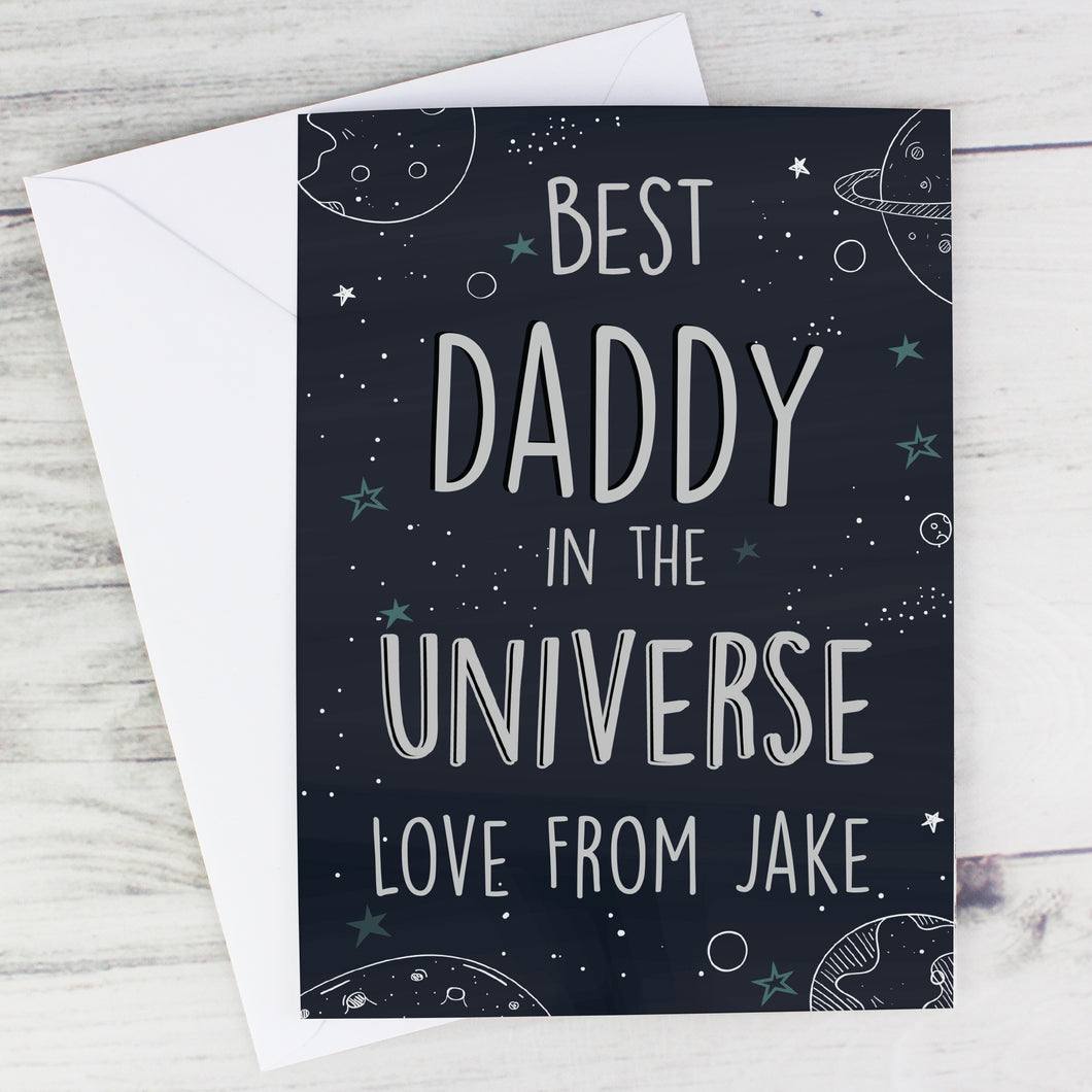 Personalised Best... In The Universe Card