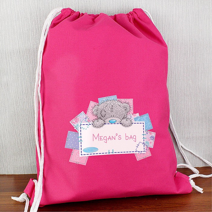 Personalised Me To You Pink Swim & Kit Bag