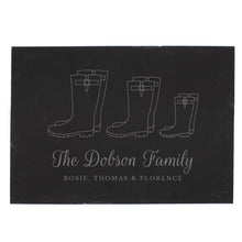 Load image into Gallery viewer, Personalised Welly Boot Family of Three Slate