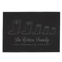 Load image into Gallery viewer, Personalised Welly Boot Family of Five Slate