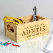 Load image into Gallery viewer, Personalised Worlds Best Mini Wooden Crate