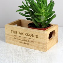Load image into Gallery viewer, Personalised Free Text Mini Wooden Crate