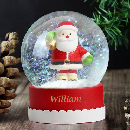Personalised Santa Snow Globe