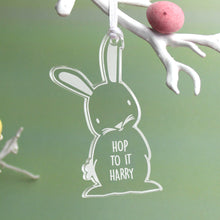 Load image into Gallery viewer, Personalised Acrylic Easter Bunny Decoration