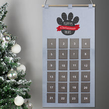 Load image into Gallery viewer, Personalised Pet Advent Calendar In Silver Grey