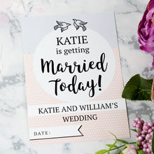 Load image into Gallery viewer, Personalised Wedding Cards For Milestone Moments