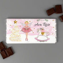 Load image into Gallery viewer, Personalised Sugar Plum Fairy Milk Chocolate Bar