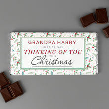 Load image into Gallery viewer, Personalised Thinking of You Christmas Milk Chocolate Bar