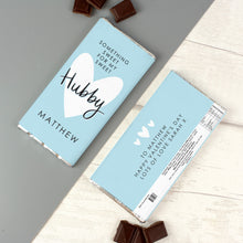 Load image into Gallery viewer, Personalised My Sweet Hubby Milk Chocolate Bar