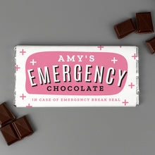 Load image into Gallery viewer, Personalised Mum's Emergency Milk Chocolate Bar