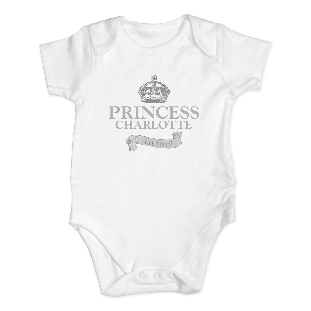 Personalised Royal Crown Baby Vest 0-3 Months
