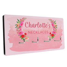 Load image into Gallery viewer, Personalised Floral Watercolour Jewellery Hooks