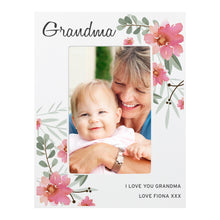 Load image into Gallery viewer, Personalised Floral Sentimental 6x4 Wooden Photo Frame