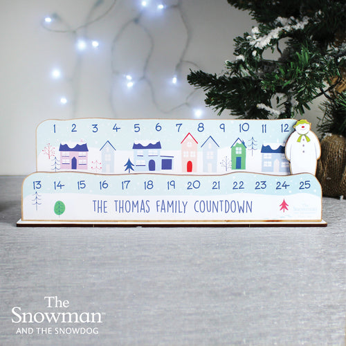 Personalised Make Your Own The Snowman Christmas Advent Countdown Kit