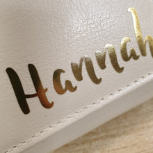 Load image into Gallery viewer, Personalised Gold Name Cream Purse
