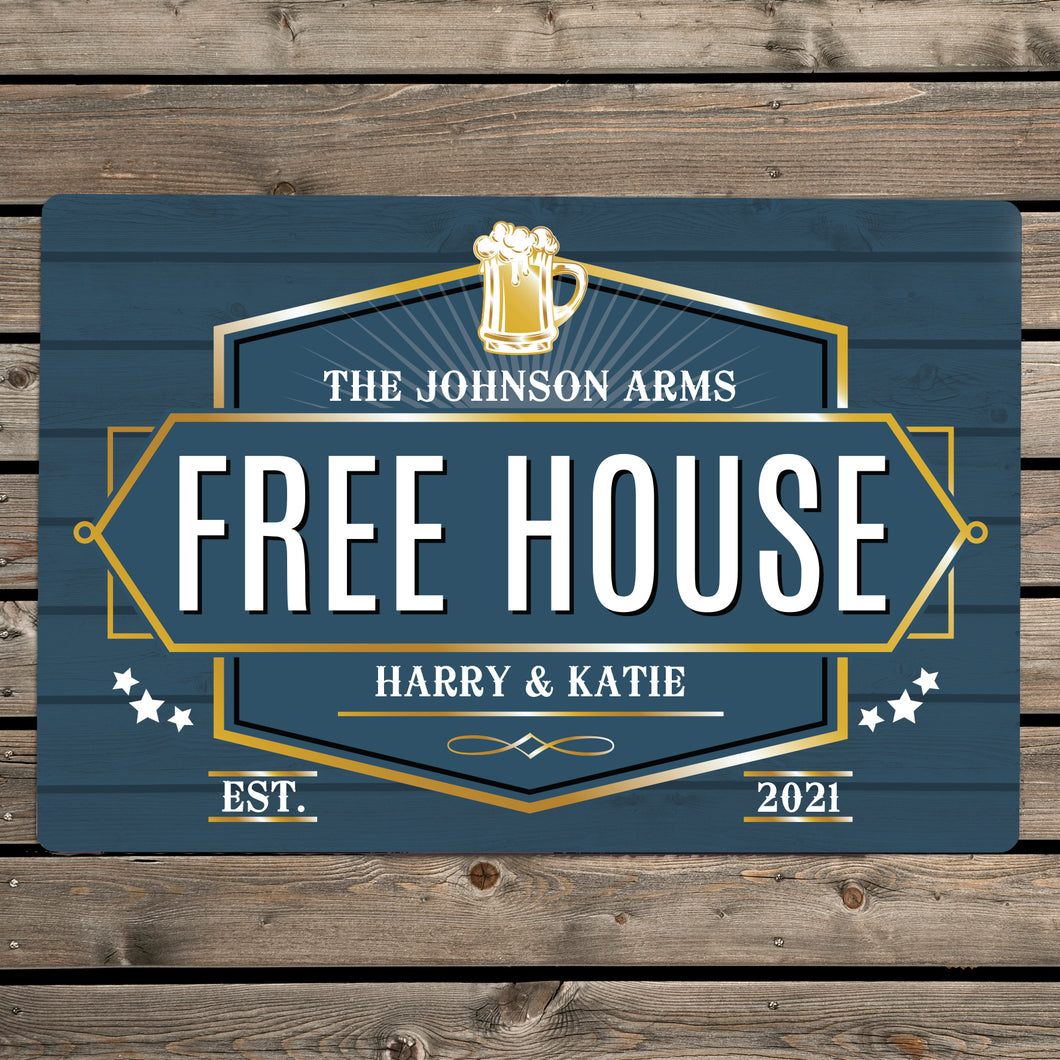 Personalised Free House Metal Sign (more options)