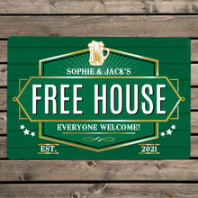 Load image into Gallery viewer, Personalised Free House Metal Sign (more options)