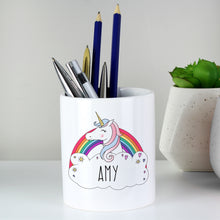 Load image into Gallery viewer, Personalised Unicorn Ceramic Storage Pot