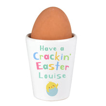 Load image into Gallery viewer, Personalised Have A Cracking Easter Egg Cup