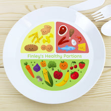 Load image into Gallery viewer, Personalised Healthy Eating Portions Plastic Plate