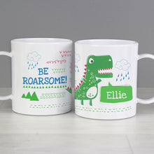Load image into Gallery viewer, Personalised 'Be Roarsome' Dinosaur Plastic Mug