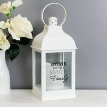 Load image into Gallery viewer, Personalised The Family White Lantern