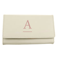 Load image into Gallery viewer, Personalised Initial Cream Leather Purse