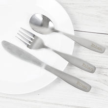 Load image into Gallery viewer, Personalised 3 Piece Cutlery Set