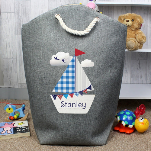 Personalised Sailboat Storage Bag