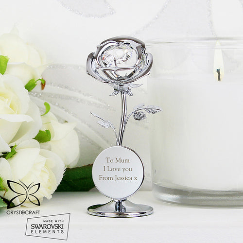Personalised Crystocraft Rose