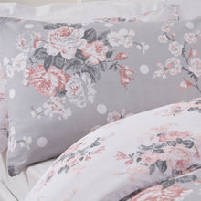 Load image into Gallery viewer, English Rose Duvet Set - Grey