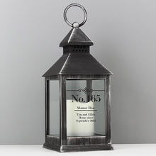 Personalised Elegant Black Light Up Lantern