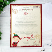 Load image into Gallery viewer, Personalised Elf Surveillance Christmas Letter