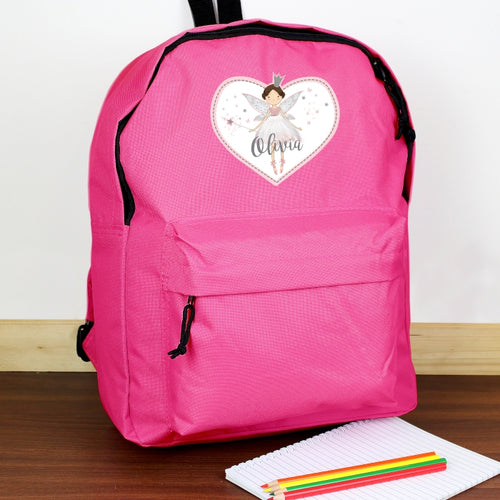 Personalised Fairy Princess Pink Backpack
