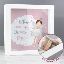 Load image into Gallery viewer, Personalised Fairy Princess Fund and Keepsake Box