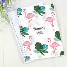 Load image into Gallery viewer, Personalised Flamingo A5 Notebook