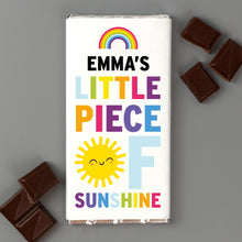 Load image into Gallery viewer, Personalised Rainbow Sunshine Milk Chocolate Bar