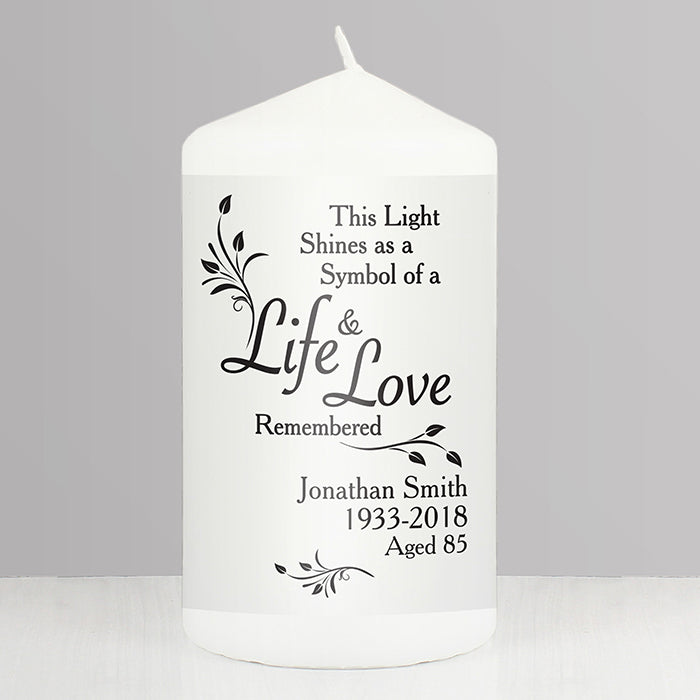 Personalised Love & Life Candle