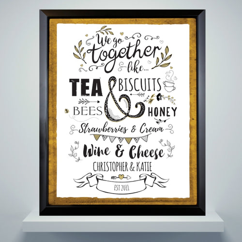 We Go Together Like... Black Poster Frame