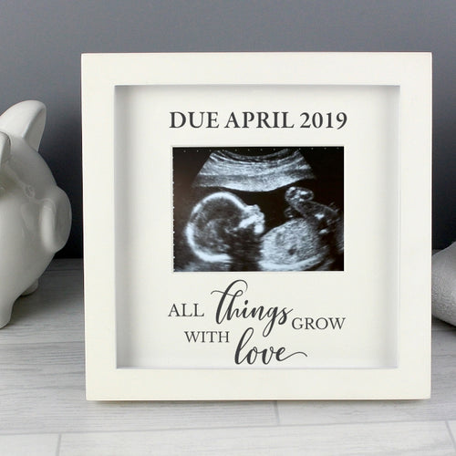 Personalised 'All Things Grow' 4 x 3 Baby Scan Frame