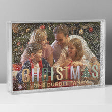 Load image into Gallery viewer, Personalised Christmas 6x4 Glitter Shaker Photo Frame