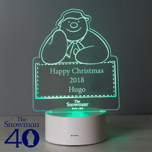 Load image into Gallery viewer, Personalised The Snowman LED Colour Changing Decoration & Night Light