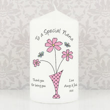 Load image into Gallery viewer, Personalised Flower in Vase Message Candle