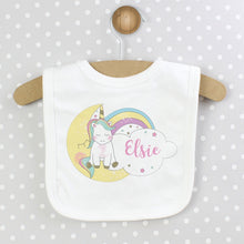 Load image into Gallery viewer, Personalised Baby Unicorn Bib