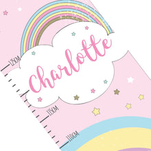 Load image into Gallery viewer, Personalised Baby Unicorn Height Chart