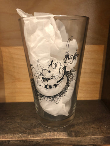 DRINK! RiNo Pint Glass - Dylan Fowler