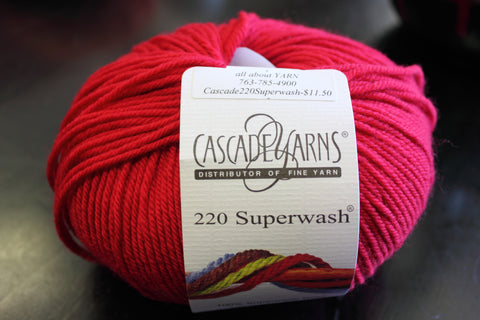 Free gift with purchase: Cascade 220 Superwash Wool Yarn